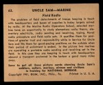 1941 Gum Inc Uncle Sam #63   Field Radio Back Thumbnail