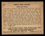 1941 Gum Inc Uncle Sam #80   Destroyer Duty Back Thumbnail