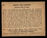 1941 Gum Inc Uncle Sam #90   Marine Sky Troops Back Thumbnail