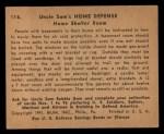 1941 Gum Inc Uncle Sam #116   Home Shelter Room Back Thumbnail
