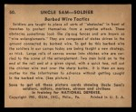 1941 Gum Inc Uncle Sam #50   Barbed Wire Tactics Back Thumbnail