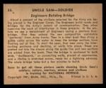 1941 Gum Inc Uncle Sam #53   Engineers Building Bridge Back Thumbnail
