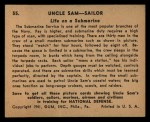1941 Gum Inc Uncle Sam #55   Life On Submarine Back Thumbnail