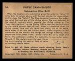 1941 Gum Inc Uncle Sam #56   Submarine Dive Drill Back Thumbnail