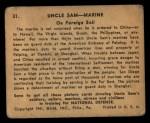1941 Gum Inc Uncle Sam #31   On Foreign Soil Back Thumbnail