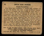 1941 Gum Inc Uncle Sam #35   Jungle Expedition Back Thumbnail