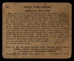 1941 Gum Inc Uncle Sam #56   Submarine Dive Drill Back Thumbnail