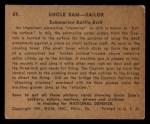 1941 Gum Inc Uncle Sam #59   Submarine Battle Drill Back Thumbnail
