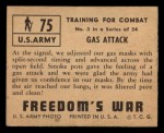 1950 Topps Freedoms War #75   Gas Attack   Back Thumbnail