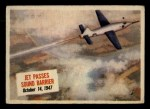 1954 Topps Scoop #68   Jet Passes Sound Barrier Front Thumbnail
