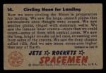 1951 Bowman Jets Rockets and Spacemen #14   Circling Moon for Landing Back Thumbnail
