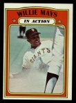 1972 Topps #50   -  Willie Mays In Action Front Thumbnail
