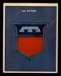 1950 Topps Freedoms War #180   76th Division  Front Thumbnail