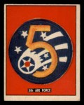 1950 Topps Freedoms War #185   5th Air Force  Front Thumbnail