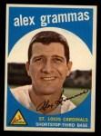 1959 Topps #6  Alex Grammas  Front Thumbnail