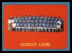 1963 Topps #36   Lions Team Front Thumbnail