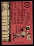 1969 O-Pee-Chee #181  Mel Nelson  Back Thumbnail