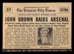 1954 Topps Scoop #37   John Browns Raid  Back Thumbnail