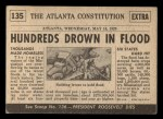 1954 Topps Scoop #135   Flood Kills Hundreds Back Thumbnail