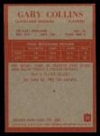 1965 Philadelphia #32  Gary Collins    Back Thumbnail