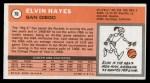 1970 Topps #70  Elvin Hayes   Back Thumbnail