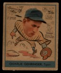 1938 Goudey Heads Up #265 Charley Gehringer  Front Thumbnail