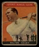 1933 Goudey Sport Kings #8  Walter Hagen   Front Thumbnail