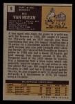 1971 Topps #9  Bill Van Heusen  Back Thumbnail