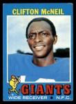 1971 Topps #15  Clifton McNeil  Front Thumbnail