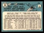 1965 Topps #362  Don Schwall  Back Thumbnail