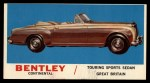 1961 Topps Sports Cars #22   Bentley Continental Front Thumbnail