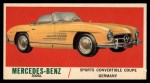 1961 Topps Sports Cars #63   Mercedes-Benz 300SL Front Thumbnail