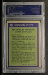 1972 Topps #266   -  Rayfield Wright All-Pro Back Thumbnail