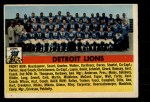 1956 Topps #92   Lions Team Front Thumbnail