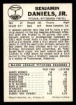 1960 Leaf #7  Benjamin Daniels  Back Thumbnail