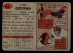 1957 Topps #44  Gene Gedman  Back Thumbnail