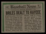 1974 Topps Traded #123 T  -  Nelson Briles Traded Back Thumbnail