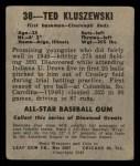1948 Leaf #38  Ted Kluszewski  Back Thumbnail