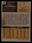 1971 Topps #85  Charlie Johnson  Back Thumbnail