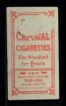 1909 T206 OVR Howie Camnitz  Back Thumbnail