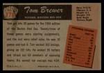 1955 Bowman #178  Tom Brewer  Back Thumbnail