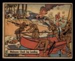 1941 Gum Inc. War Gum #26   Malayans Check Japanese Landing Front Thumbnail