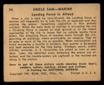 1941 Gum Inc Uncle Sam #34   Landing Force In Attack Back Thumbnail