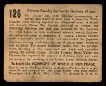 1938 Gum Inc. Horrors of War #126   Chinese Calvary Surrounds Garrison of Japs Back Thumbnail