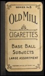 1910 T210-5 Old Mill Carolina Association  Hartley  Back Thumbnail