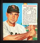 1952 Red Man #18 AL x Eddie Robinson  Front Thumbnail