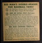 1952 Red Man #2 NL x Richie Ashburn  Back Thumbnail