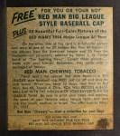 1954 Red Man #16 NL Duke Snider  Back Thumbnail