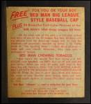 1955 Red Man #19 NL Duke Snider  Back Thumbnail