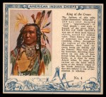 1952 Red Man American Indian Chiefs #4   King of the Crows Front Thumbnail